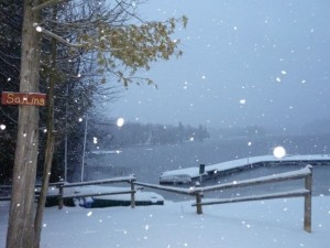 March Break Snow Flurries at Camp Kennebec