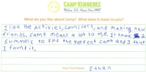 Kennebecer Answers a Camp FAQ About What Camp Means to Him