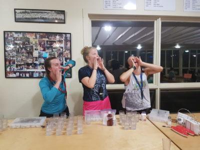 Camp Kennebec Medical Team Dispensing Medications